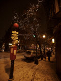 Winter Evening in Boston's North End  Italian Neighborhood