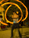 Street Artists and Fire Dancers Perform