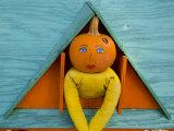 Painted Pumpkin Figure Awaits Halloween