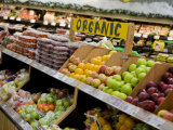 Organic Fruits and Vegetables in a Grocery Store