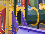 Colorful Playground Equipment in a Community Childrens' Park