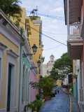 Street in Colorful Old San Juan  Puerto Rico
