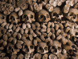 Skulls and Bones of Capuchin Monks in the Crypt of the Church