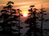 Sunrise over Tokachidake Mountain