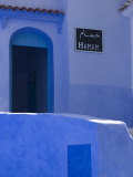 Street Scene in the Famous Blue Town of Chefchaouen