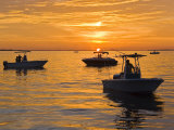 Silhouetted Boats and Shimmering Water During a Picture Perfect Sunset