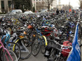 Bike Parking Area for the 2009 Inauguration Is Jammed with Bicycles