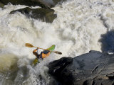 Kayaker Paddles Off a Waterfall into Big Whitewater