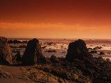 Enhanced Sunset on a Rocky Coast in Ireland