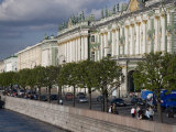 Hermitage Museum Sits on the Banks of the Neva River
