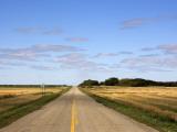 Highway on the Manitoba-Saskatchewan Border