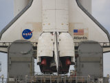 Wings and Boosers of Space Shuttle Atlantis as it She Sits on Pad 39B