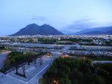 Monterrey at Dusk with Cerro De La Silla in the Background
