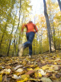 Woman Running Through Woods Near Potomac  Maryland