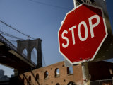 Stop Sign and the Brooklyn Bridge