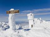 Sign Sits at 6 288 Feet at the Summit of Mount Washington