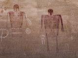 Prehistoric Anasazi Pictograph Panel  known as the Big Man Panel