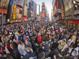 Large Crowd Gathered in Times Square for the New Year's Celebration