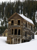 Old House Still Stands in a Ghost Mining Town
