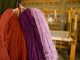 Naturally Dyed and Hand Spun Wool at the Bautista Family Workshop