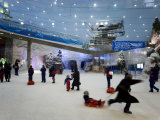 Indoor Winter Wonderland with Snow  Sleds  and Snowboard Lessons