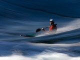 Kayaker Whizzing Past on the Skookumchuk Rapids