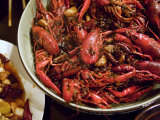 Crayfish in a Hot Stew  a Delicacy in Chinese Cuisine