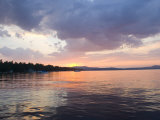 Sunset over the Water at Sebago Lake