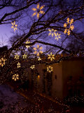 Christmas Decorations Hang Along Canyon Road in Santa Fe  New Mexico