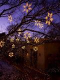 Christmas Decorations Hang Along Canyon Road in Santa Fe  New Mexico