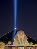 Spotlight from the Luxor in Las Vegas Pierces the Night Sky