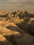 Buttes  Peaks and Canyons in Shadow and Sunlight Shot in the Badlands