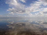 Cloud Reflections in Calm Water with the Sunshine Skyway Bridge