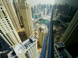 Cityscape of High Rises and Waterways in Downtown Dubai