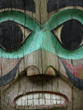 Carved Wooden Face at the Governor&#39;s Mansion in Juneau  Alaska