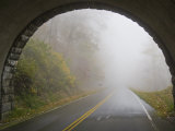 Thick Fog Creates Dangerous Driving Conditions on the Blue Ridge Parkway