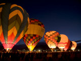 Hot Air Balloons Filling at Dawn at the International Balloon Fiesta