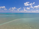 Rich Blue Hues in Sky and Waters Off the Florida Keys