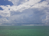 Storm System Raining in the Atlantic Ocean Off the Florida Keys