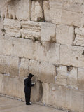 Jews Gather Every Day to Pray at the Western Wall in Jerusalem