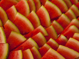 Close-up of Slices of Watermelon