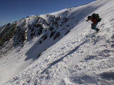 Man Skis Down Tuckerman's Ravine on Mt Washington  NH