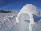 Igloo Built by Climbers at the Patriot Hills Expedition Base
