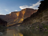 Last Light on Conquistador Aisle  on the Colorado River  Grand Canyon