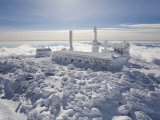 Mount Washington Observatory  Completely Covered in Rime Ice