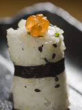 Close View of a Piece of Sushi
