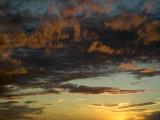 Sunset Prairie Skies over the Big Muddy Badlands