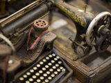 Antique Typewriter and Sewing Machine in a Shop