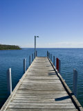 Small Jetty in a Sheltered and Secluded Bay on a Summers Morning