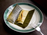 Welchez Coffee Plantation in the Copan Honduras  Meat Tamale Wrapped in Banana Leaf